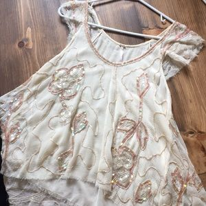 Free People sequined tank